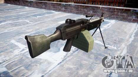 Mitrailleuse M249 SAW pour GTA 4 secondes d'écran
