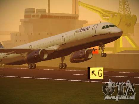 Airbus A321-232 jetBlue Whole Lotta Blue für GTA San Andreas linke Ansicht