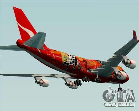 Boeing 747-400ER Qantas (Wunala Dreaming) für GTA San Andreas Unteransicht