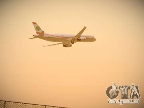 Airbus A321-232 Middle East Airlines für GTA San Andreas obere Ansicht