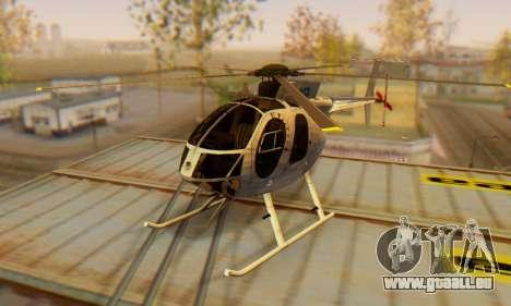 Le MD500E hélicoptère v3 pour GTA San Andreas