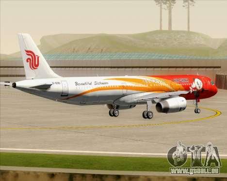 Airbus A321-200 Air China (Beautiful Sichuan) für GTA San Andreas Unteransicht