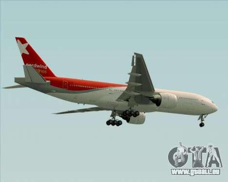 Boeing 777-21BER Nordwind Airlines für GTA San Andreas Räder