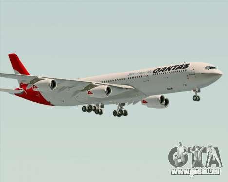 Airbus A340-300 Qantas pour GTA San Andreas vue de côté