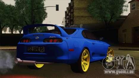 Toyota Supra Twin Turbo pour GTA San Andreas laissé vue