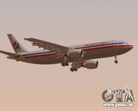 Airbus A300-600 American Airlines für GTA San Andreas rechten Ansicht