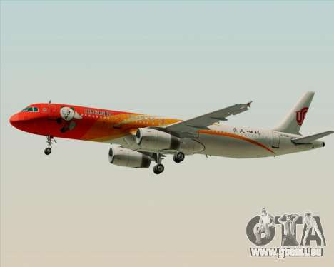 Airbus A321-200 Air China (Beautiful Sichuan) pour GTA San Andreas vue de droite