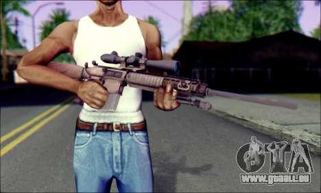 M110 avec un viseur Optique pour GTA San Andreas troisième écran