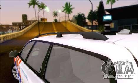 Volvo V70 LE Politie pour GTA San Andreas sur la vue arrière gauche