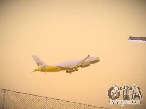 Airbus A321-232 Monarch Airlines pour GTA San Andreas vue de dessus