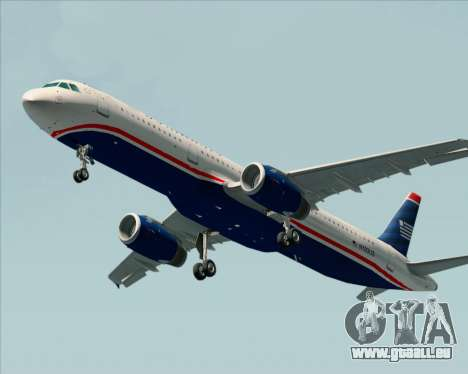 Airbus A321-200 US Airways für GTA San Andreas linke Ansicht