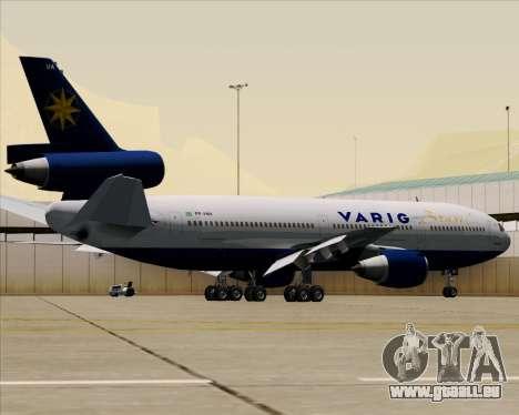 McDonnell Douglas DC-10-30 VARIG für GTA San Andreas obere Ansicht