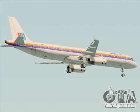 Airbus A321-200 United Airlines für GTA San Andreas Unteransicht