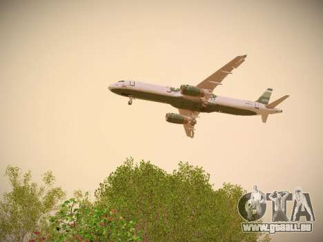 Airbus A321-232 jetBlue NYJets pour GTA San Andreas moteur