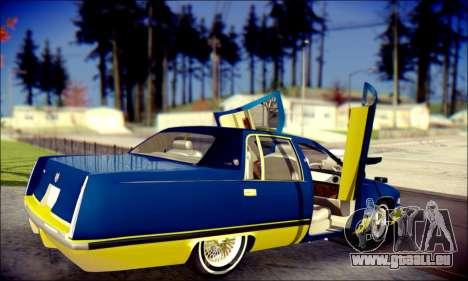 Cadillac Fleetwood 1993 Lowrider für GTA San Andreas Unteransicht