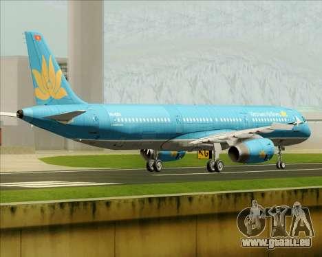 Airbus A321-200 Vietnam Airlines pour GTA San Andreas vue arrière