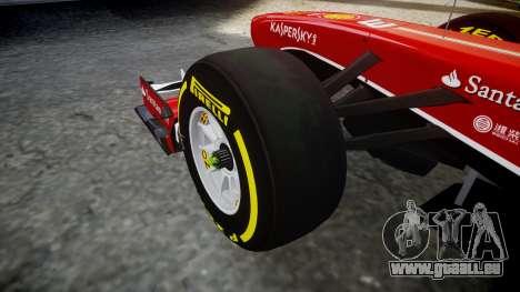 Ferrari F138 v2.0 [RIV] Massa TSD für GTA 4 Rückansicht