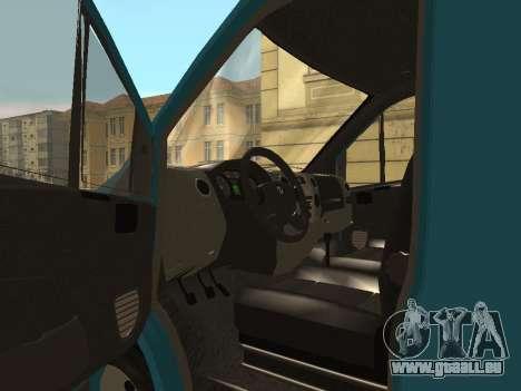 GAZelle Prochaine pour GTA San Andreas vue arrière