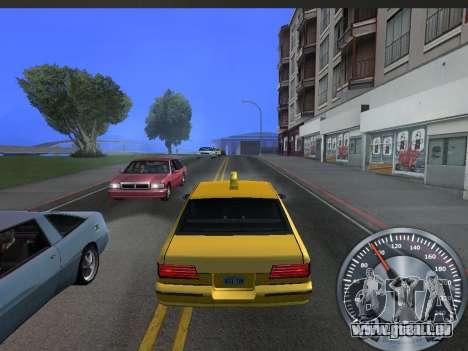 Métal classique de l'indicateur de vitesse pour GTA San Andreas