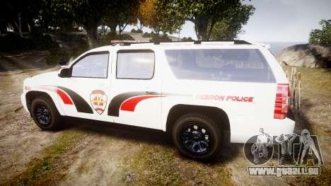 Chevrolet Suburban 2008 Hebron Police [ELS] Red pour GTA 4 est une gauche
