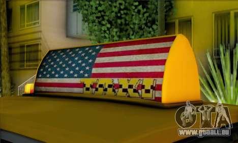Willard Marbelle Taxi Saints Row Style für GTA San Andreas zurück linke Ansicht