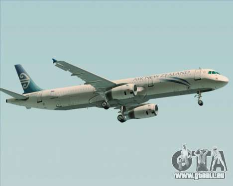 Airbus A321-200 Air New Zealand für GTA San Andreas rechten Ansicht