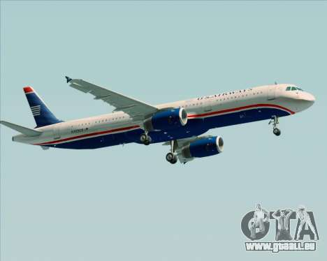 Airbus A321-200 US Airways für GTA San Andreas Rückansicht