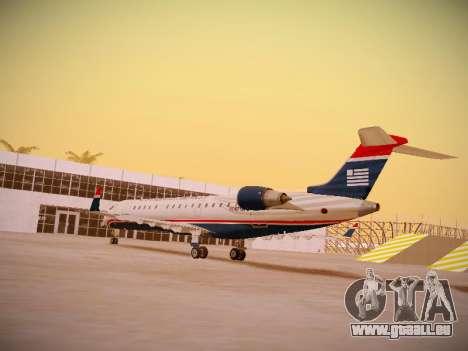 Bombardier CRJ-700 US Airways Express für GTA San Andreas zurück linke Ansicht