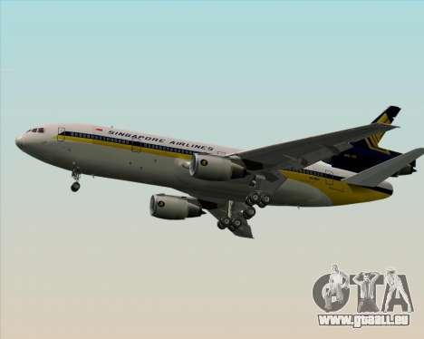 McDonnell Douglas DC-10-30 Singapore Airlines pour GTA San Andreas vue de droite