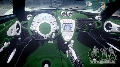 Pagani Huayra 2013 pour GTA 4 est une vue de l'intérieur