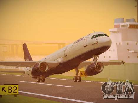 Airbus A321-232 jetBlue Batty Blue pour GTA San Andreas
