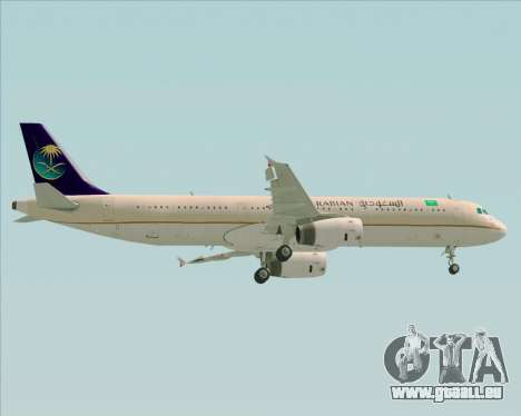 Airbus A321-200 Saudi Arabian Airlines für GTA San Andreas obere Ansicht
