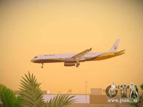 Airbus A321-232 Monarch Airlines pour GTA San Andreas salon