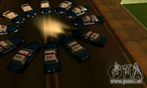 FCPD Ford Crown Victoria pour GTA San Andreas vue de droite