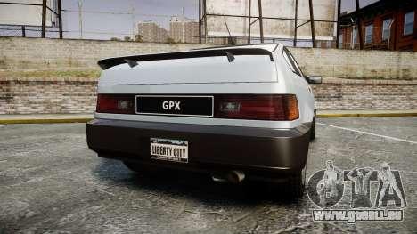 Dinka Blista Compact GPX für GTA 4 hinten links Ansicht