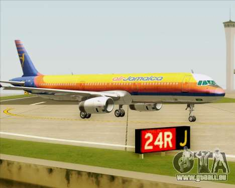 Airbus A321-200 Air Jamaica für GTA San Andreas obere Ansicht