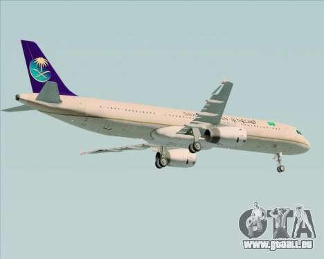 Airbus A321-200 Saudi Arabian Airlines pour GTA San Andreas vue de côté
