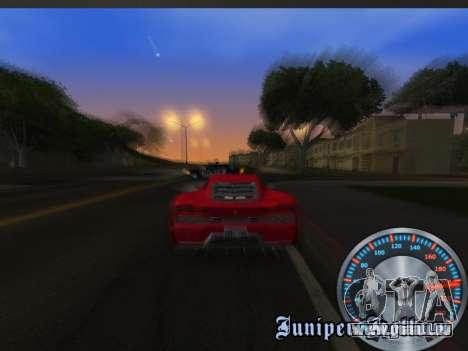 Métal classique de l'indicateur de vitesse pour GTA San Andreas sixième écran