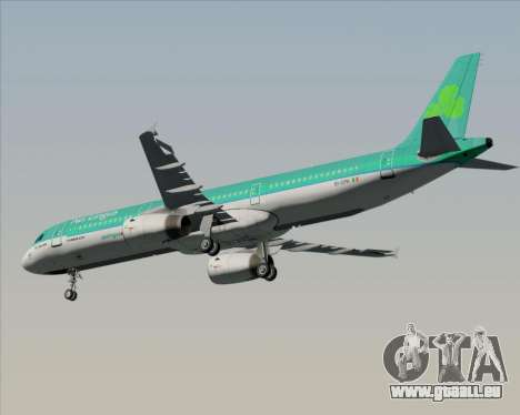 Airbus A321-200 Aer Lingus für GTA San Andreas Innenansicht