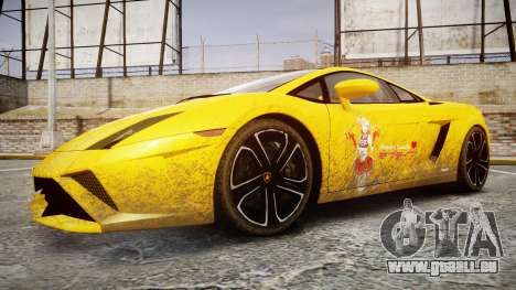 Lamborghini Gallardo 2013 HDD Honoka Kousaka pour GTA 4 Vue arrière