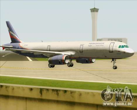 Airbus A321-200 Aeroflot - Russian Airlines pour GTA San Andreas vue de droite