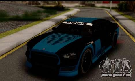 Bravado Buffalo S (HQLM) pour GTA San Andreas sur la vue arrière gauche