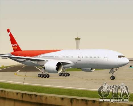 Boeing 777-21BER Nordwind Airlines pour GTA San Andreas vue de dessous