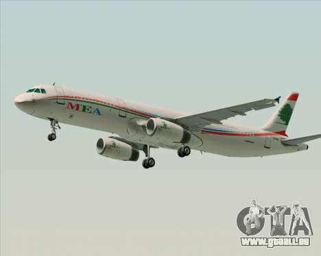 Airbus A321-200 Middle East Airlines (MEA) für GTA San Andreas linke Ansicht