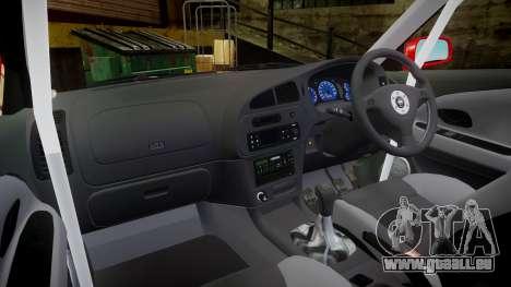 Mitsubishi Lancer Evolution VI Rally Marlboro pour GTA 4 Vue arrière