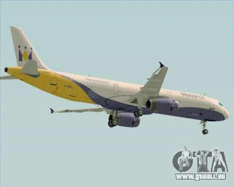 Airbus A321-200 Monarch Airlines für GTA San Andreas Seitenansicht