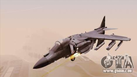 EMB AV-8 Harrier II USA NAVY pour GTA San Andreas sur la vue arrière gauche