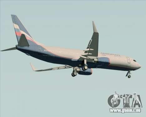 Boeing 737-8LJ Aeroflot - Russian Airlines pour GTA San Andreas vue arrière