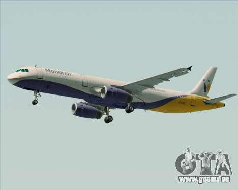 Airbus A321-200 Monarch Airlines für GTA San Andreas Innenansicht