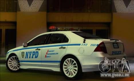 Ford Fusion NYPD v2.0 pour GTA San Andreas laissé vue